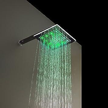 8 zoll messing duschkopf mit farbwechsel led licht dee430. Black Bedroom Furniture Sets. Home Design Ideas