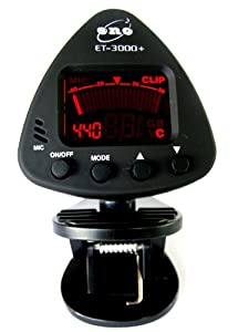 Eno ET 3000 Clip On Tuner for Guitar - Black