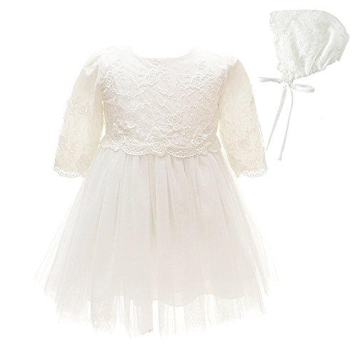 Baby Girl Dress Christening Baptism Gowns Long Sleeve Thicken Dress