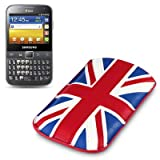 Samsung Galaxy Y Pro Duos Premium PU Leather Pocket Case / Cover / Pouch - Union Jack