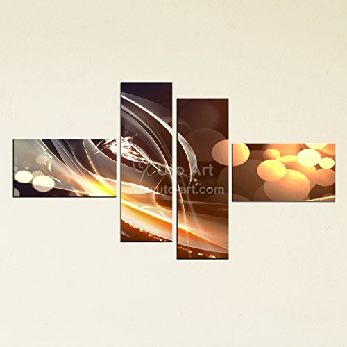 Uto_Art Modern Unframed 4 Piece Canvas Art Prints Abstract Graffiti Wall Decor Modular Pictures Canvas Prints Painting Set for Wholesale (30*60 cm x 2 + 30*75 cm x 2) (Modular Arts Wall Panels compare prices)