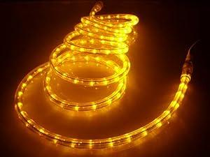 Amazon 50Ft Rope Lights Brilliant Amber LED Rope