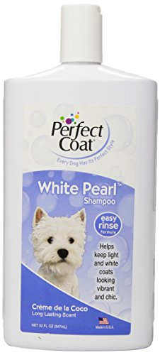 best shampoo for natural hair 8 in 1 Perfect Coat White Pearl Shampoo for Dogs, 32 Ounce Bottle, Coconut Scent