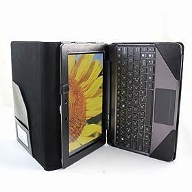 Poetic(TM) ASUS Transformer Prime TF201 Leather Keyboard Portfolio Stand Case Cover for TF201 Black