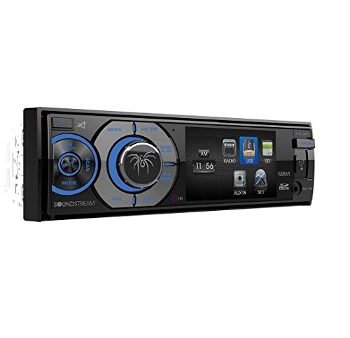 "Soundstream Vr-345 3.4"" LCD Screen Single DIN Dvd/cd CAR Rec"