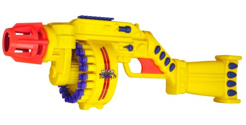 Ruff Stuff Air Blasters Nerf Machine Gun Motorized Mech Tommy 20 Dart Blaster