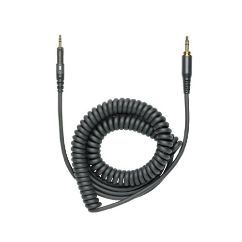 "M-Series Headphones Cable, 1.2M-3M (3.9'-9.8') Coiled (Black) Replacement Cable For Ath-M40X And Ath-M50X Headphones. Includes 6.3 Mm (1/4"") Screw-On Adapter."