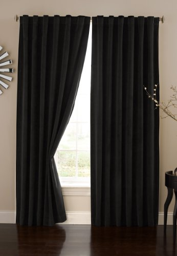 Absolute Zero Velvet Blackout Home Theater Curtain Panel, 95-Inch, Black (Home Theater Panel compare prices)
