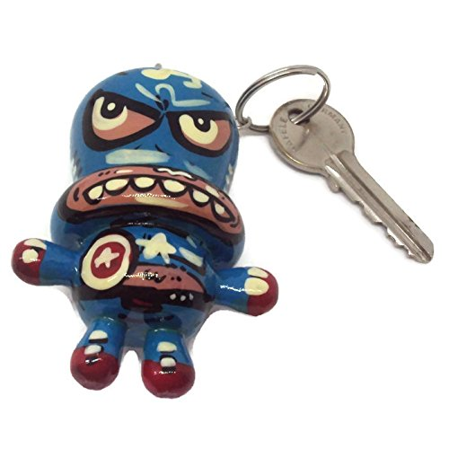 Agility Captain America Doll Wood Funny Handmade Key Chain, Key Ring Art Paint (Honda Led Emblem compare prices)