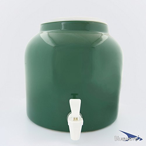 Bluewave Lifestyle PKDS161 Solid Design Water Dispenser Crock, Green (Ceramic Water Crock Top compare prices)