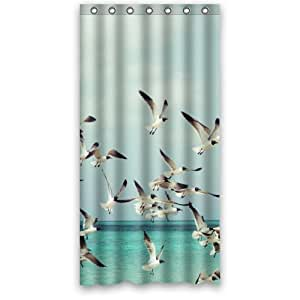 Amazon Seagulls Fly Over The Ocean Polyester Fabric