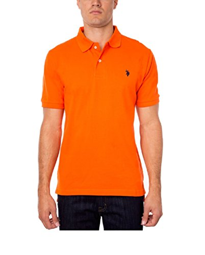 U.S. Polo Assn. Men'S Classic Logo Polo Shirt (M, Summer Orange)