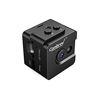 Mini Spy Cam Hidden Camera-Conbrov T16 720P Portable Small Nanny Cam with Night Vision, Perfect Indoor Security Camera for Home and Office