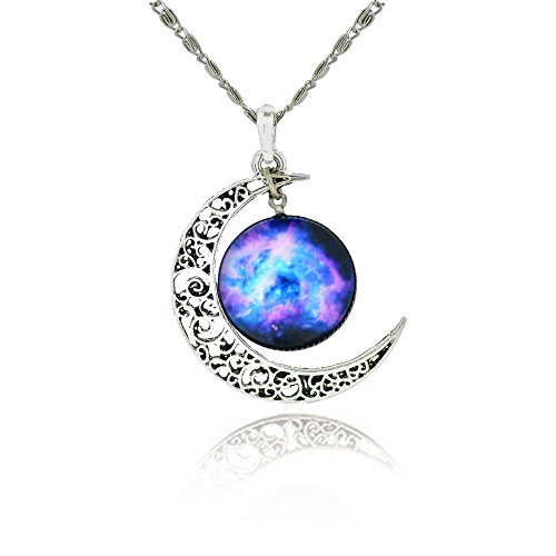 galaxy-crescent-cosmic-moon-pendant-necklace-purple-glass-best-jewelry-gift-for-women-2165-chain