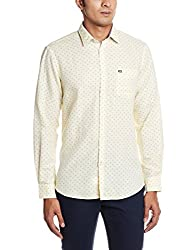 Arrow Sports Men's Casual Shirt (8907259810317_ASRS3063_40_Light Yellow)