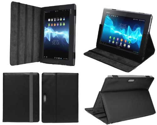 Navitech Sony Xperia Tablet S 9.4Inch Faux Leather Case Cover For SGPT121US/S SGPT122US/S SGPT123US/S 16GB 32GB 64GB Picture