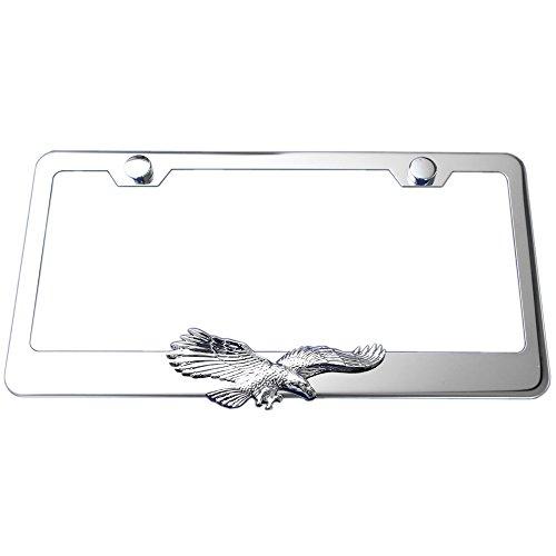 Flying Eagle 3d Chrome Emblem Polished Stainless Steel License Plate Frame (Eagle License Plate Frame compare prices)
