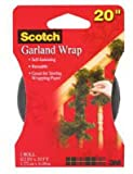 Scotch RFGW-H Reusable Garland Wrap Fastener, 20-Feet, Green