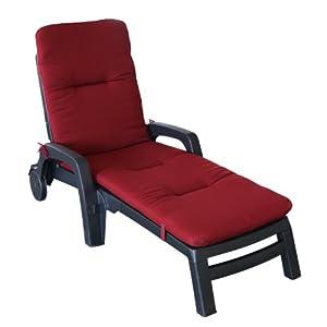 hochwertige auflage f r sonnenliege rot. Black Bedroom Furniture Sets. Home Design Ideas