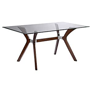 Chintaly luisa rectangular dining table with for Dining room tables on amazon