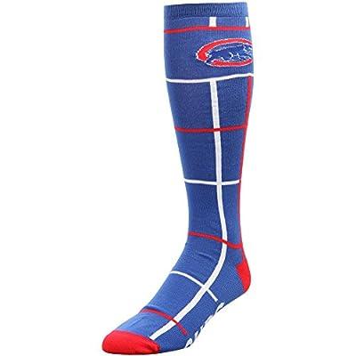 Chicago Cubs Square Stripe Quarter-Length Socks by For Bare Feet