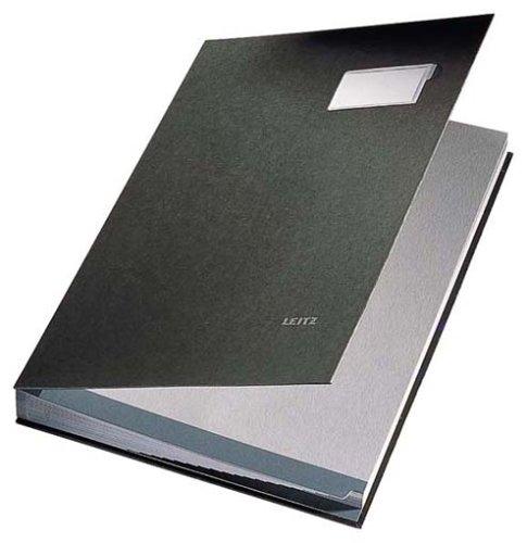 Leitz 57010095 Unterschriftsmappe, 10 Fächer, Überzug PP, schwarz