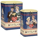 I Love Lucy What's Lucy Cooking Up 2-piece Tin Canister Set