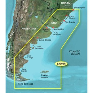 Garmin BlueChart g2 Vision Florianopolis to Falkland Island Saltwater Map microSD Card