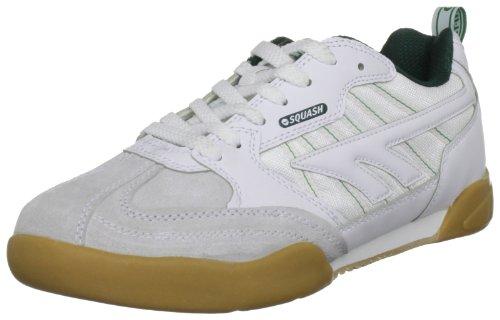 Hi-Tec Squash Classic - Scarpe da Squash Unisex - Adulto, Bianco (White/Green 011), 39 EU