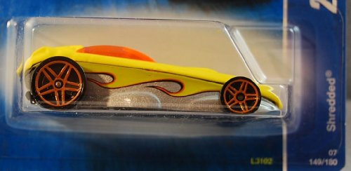 Hot Wheels 2007 All Stars Yellow Shredded #149/180