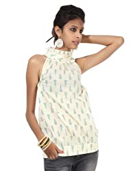 Rajrang Women Cotton Tunic -Yellow, Green -Medium