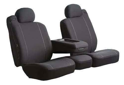 Fia Sp82-40 Black Custom Fit Rear Seat Cover Bench Seat - Poly-Cotton, (Black) front-166799