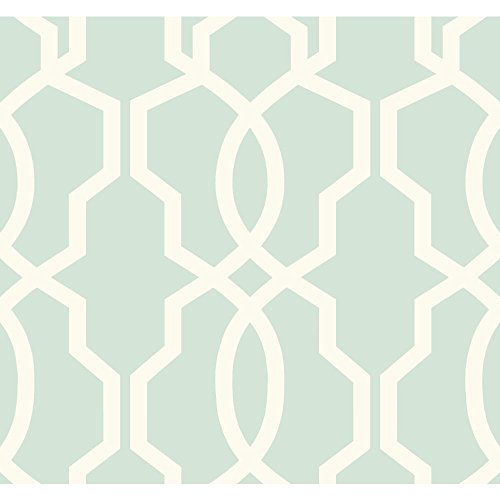 York Wallcoverings GE3610 Ashford Geometrics Retro Links Wallpaper, Blue/White
