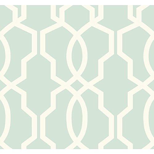 York Wallcoverings GE3610 Ashford Geometrics Retro Links Wallpaper, Blue/White