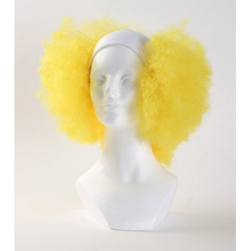 Bald Curly Clown Wig - Yellow