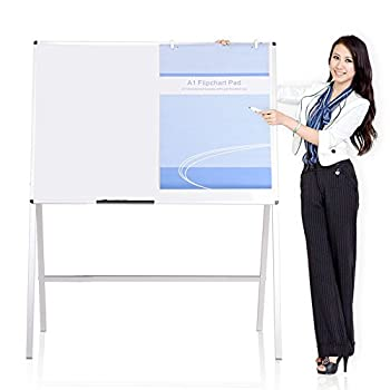 VIZ-PRO Magnetic H-Stand Whiteboard / Adjustable Dry Erase Easel,36 x 48 Inches