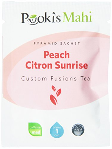 Pooki'S Mahi Peach Citron Sunrise Pyramid Sachets, 20 Count