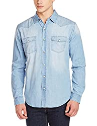 Fox Men's Casual Shirt (439034119938_439034_Medium_Light Jeans)