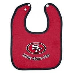 NFL McArthur San Francisco 49ers Scarlet Cotton Baby Bib by Mcarthur
