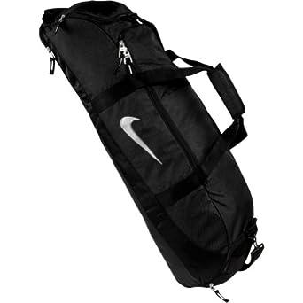 Amazon.com : Nike Diamond Elite Show Bat Bag (Black/Black/Metallic