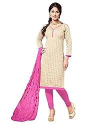 Fabgruh Beautiful Beige Colours Dress Material FG-7AKS13010
