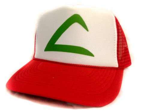 [Cosplay POKEMON KETCHUM ASH PokÃmon GO Ash's First hat Cap red fast shipping New] (Old Ash Ketchum Costume)