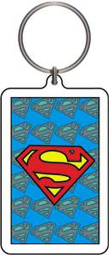 Licenses Products DC Comics Originals Superman with Background Logo Lucite Keychain