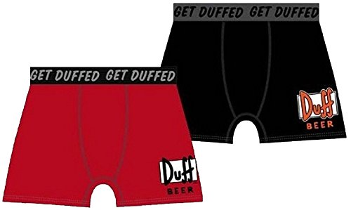 Boxer The Simpsons Duff Beer Rosso, colore: rosso multicolore Small