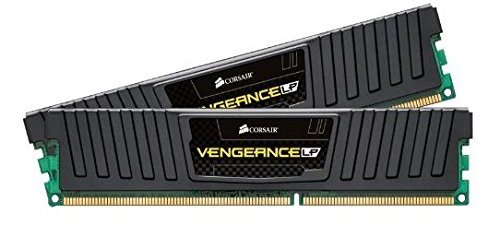 Corsair CML16GX3M2A1866C10 Vengeance Low Profile Memoria per Desktop a Elevate Prestazioni da 16 GB (2x8 GB), DDR3, 1866 MHz, CL10, con Supporto XMP, Nero