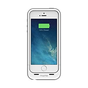 Mophie Juice Pack Plus Case with backup Battery for iPhone 5 & 5s in White - MFi Approved