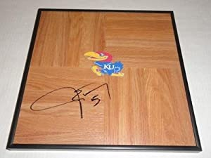 Jeff Withey Signed Framed 12x12 Floorboard Kansas Jayhawks - Autographed College... by Sports+Memorabilia