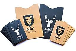 Credit Card Protector - Premium QUALITY & Designer STYLE (10 RFID Blocking Sleeves & 2 Passport RFID Blocking Sleeve) Keeping You Safe in Style from Credit Card Fraud 100%
