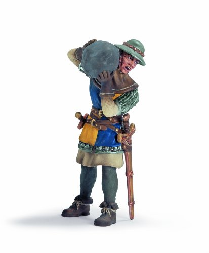 Schleich Knight: Foot Soldier with Stone - 1