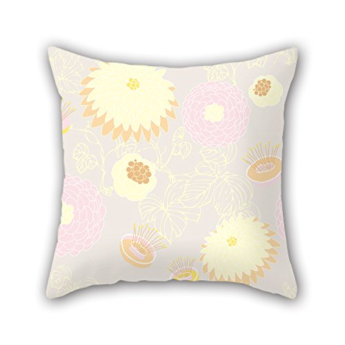 NICEPLW 16 X 16 Inches / 40 By 40 Cm Flower Pillow Covers ,each Side Ornament And Gift To Wife,valentine,bedding,family,valentine,bench (Google Chrome Badge compare prices)